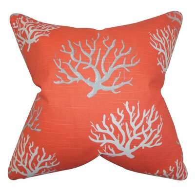 Hafwen Coastal Throw Pillow Cover Color: Salmon