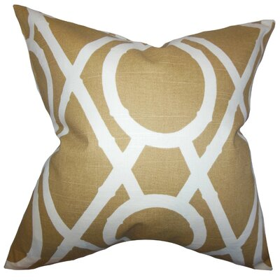 Whit Geometric Throw Pillow Cover Color: Amber