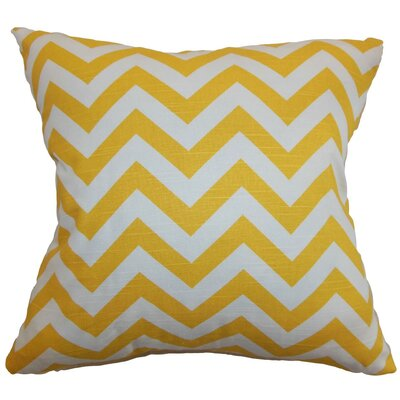 Burd Zigzag Throw Pillow Cover Color: Yellow White