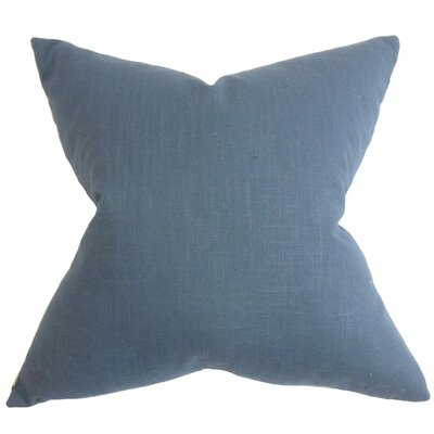 Ninian Solid Cotton Throw Pillow Size: 18 x 18