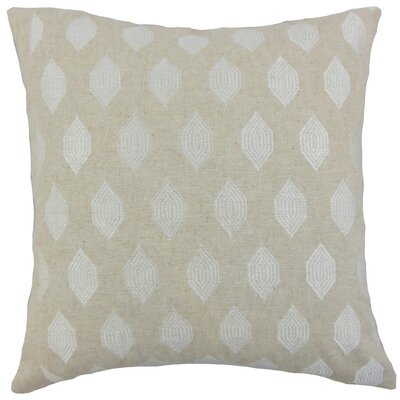 Gal Geometric Throw Pillow Cover Color: Linen