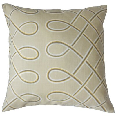 Deance Geometric Cotton Throw Pillow Cover Color: Twine