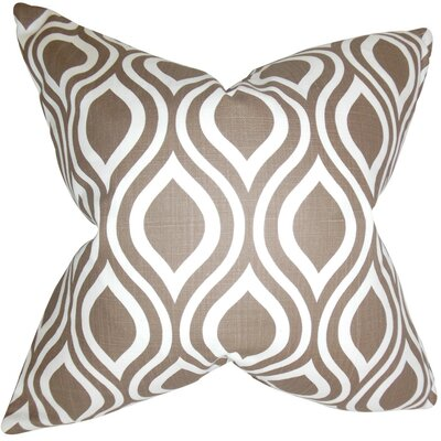 Burdge Geometric Cotton Throw Pillow Cover Color: Italian Brown
