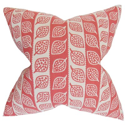 Ottilie Foliage Throw Pillow Cover Color: Red