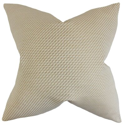 Gilberte Geometric Cotton Throw Pillow Cover Color: Sand
