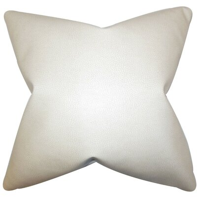 Carman Solid Faux Fur Throw Pillow Cover