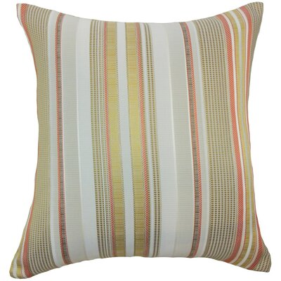 Zelag Stripes Throw Pillow Cover Color: Freesia