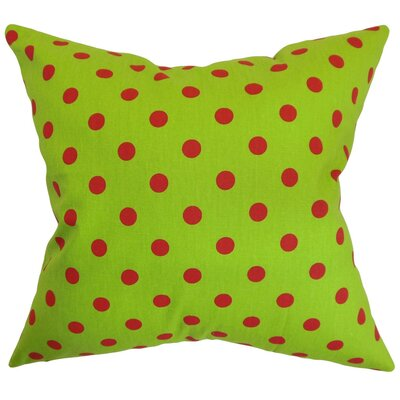 Nancy Polka Dots Throw Pillow Cover Color: Chartreuse Lipstick