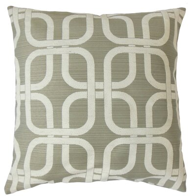 Bertille Geometric Cotton Throw Pillow Cover Color: Graystone