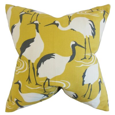 Medulla Animal Print Throw Pillow Cover Color: Yellow