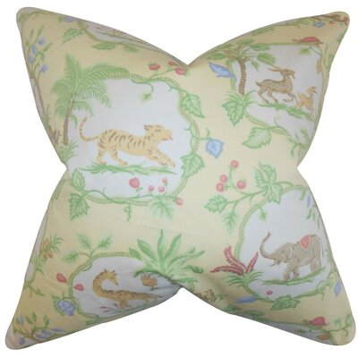 Caledon Floral Cotton Throw Pillow Size: 24 x 24