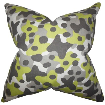 Dabney Geometric Cotton Throw Pillow Size: 18 x 18