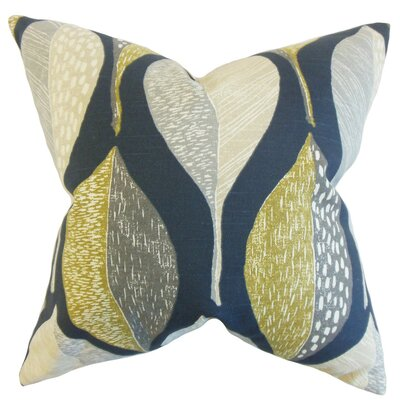 Valter Geometric Cotton Throw Pillow Cover Color: Indigo