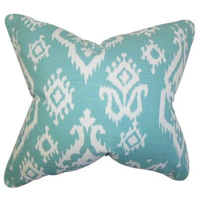 Baraka Ikat Cotton Throw Pillow Cover Color: Blue