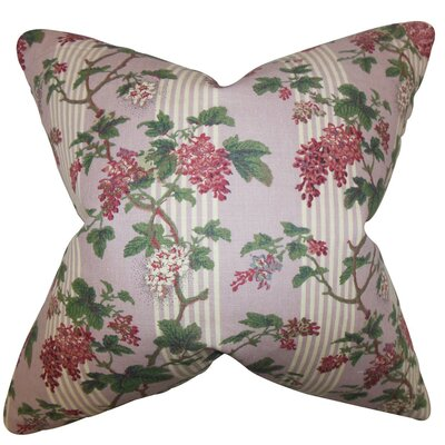 Gehry Floral Linen Throw Pillow Size: 18 x 18