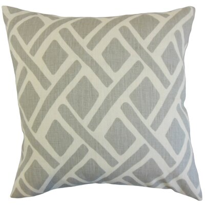 Buono Geometric Linen Throw Pillow Cover Color: Asphalt