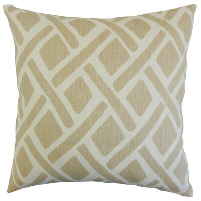 Buono Geometric Throw Pillow Cover Color: Sand