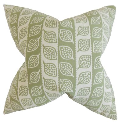 Ottilie Foliage Throw Pillow Cover Color: Green