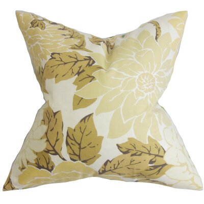 Ashendon Floral Cotton Throw Pillow Cover Color: Neutral