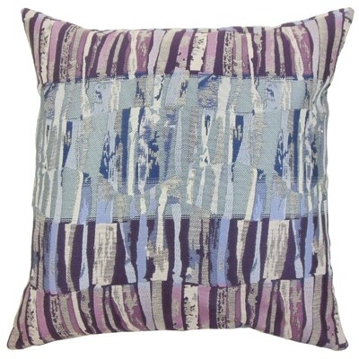 Prunella Stripes Throw Pillow Cover Color: Violet