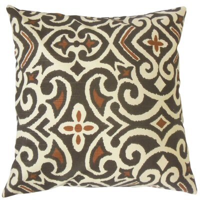 Caraf Damask Cotton Throw Pillow Cover Color: Terrain