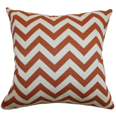 Burd Zigzag Throw Pillow Cover Color: Adventurous Red Natural