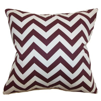 Burd Zigzag Throw Pillow Cover Color: Maroon White