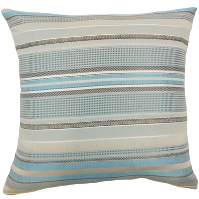 Zelag Stripes Throw Pillow Cover Color: Blue