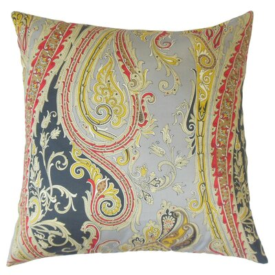 Efharis Paisley Cotton Throw Pillow Cover Color: Chalkboard