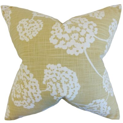 Jillian Floral Throw Pillow Cover Color: Citron