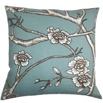 Tadita Floral Cotton Throw Pillow Cover Color: Blue