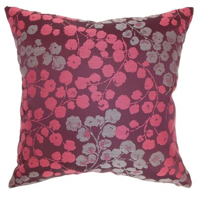 Fleur Floral Throw Pillow Cover Size: 20 x 20