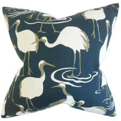 Medulla Animal Print Throw Pillow Cover Color: Blue