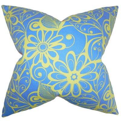 Mehira Floral Cotton Throw Pillow Cover