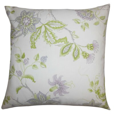 Ithaca Floral Throw Pillow Cover Color: Purple White