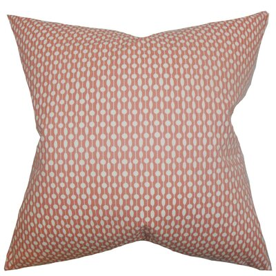 Orit Geometric Throw Pillow Cover Color: Red