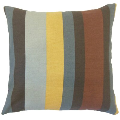 Gainell Stripes Cotton Throw Pillow Cover Color: Gray