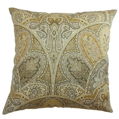 La Ceiba Paisley Cotton Throw Pillow Cover Size: 20 x 20, Color: Emerald