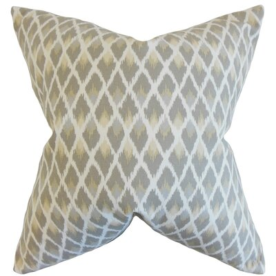 Paxton Ikat Cotton Throw Pillow Cover Color: Pewter