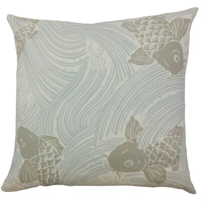 Ailies Graphic Throw Pillow Cover Color: Mist