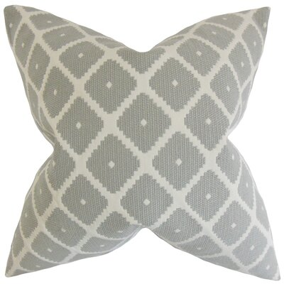 Fallon Geometric Cotton Throw Pillow Cover Color: Dove