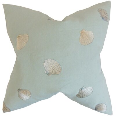 Cailean Coastal Cotton Throw Pillow Size: 18 x 18
