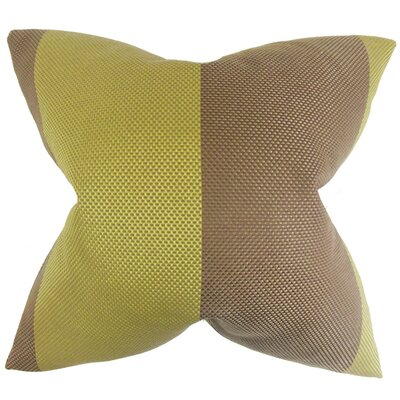 Calandre Outdoor Throw Pillow Size: 18 x 18