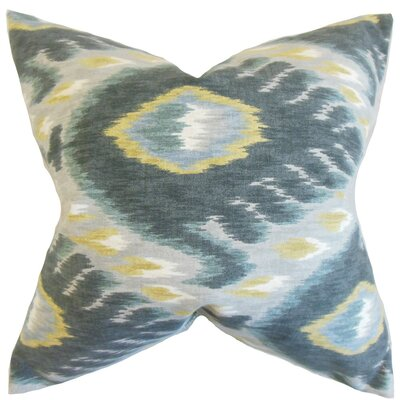 Barnum Ikat Cotton Throw Pillow Size: 18 x 18