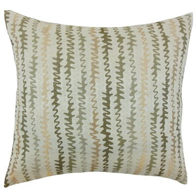 Elidi Zigzag Throw Pillow Size: 18
