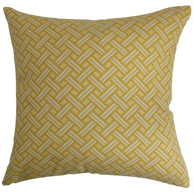 Nevin Geometric Cotton Throw Pillow Cover Size: 18 x 18