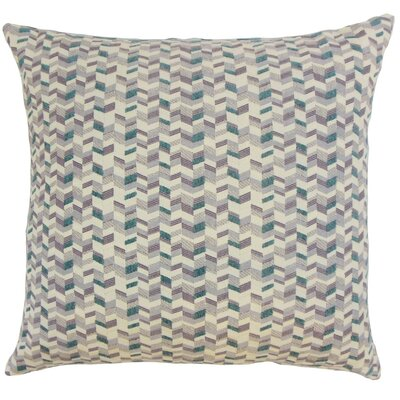 Bloem Throw Pillow Color: Wisteria, Size: 18 x 18