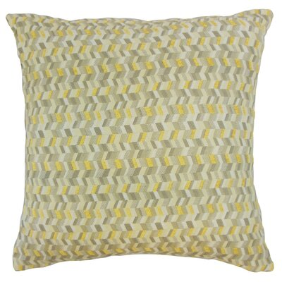 Bloem Throw Pillow Color: Citron, Size: 18 x 18