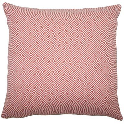 Reijo Geometric Throw Pillow Size: 18 x 18, Color: Carnation