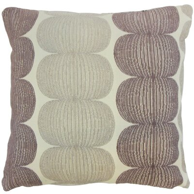 Sophronia Throw Pillow Color: Plum, Size: 18 x 18